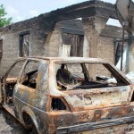 FILE PHOTO: Burnt house in Adagbo Village that was recently attacked by herdsmen In Agatu, Benue on Sunday (13/3/16) 2259/13/3/2016/HB/NAN