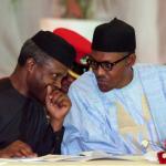 Vice President Yemi Osinbajo and President Muhammadu Buhari at the National Economic Council Retreat  PHOTO CREDIT: STATE HOUSE PHOTO