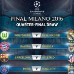 UCL Q-finals draw