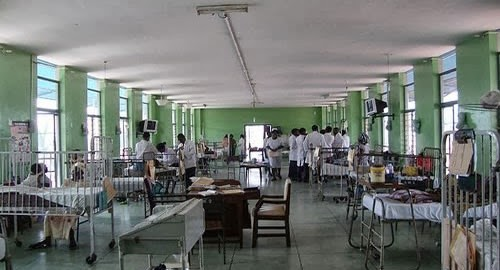 A Hospital ward with health workers used to illustrate the story