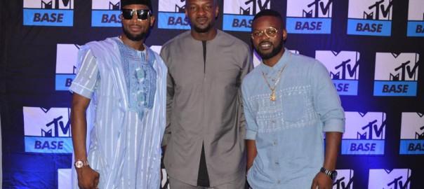 Dbanj, Co-host of Lip Sync Battle Africa, Alex Okosi,Senior Vice President, Viacom Africa, Falz, host of the bigger friday show