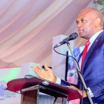 Tony Elumelu, Chairman, Heirs Holdings and UBA Plc, delivering keynote address at the Enugu Investment Summit.