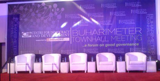 Buharimetre Town hall meeting stage