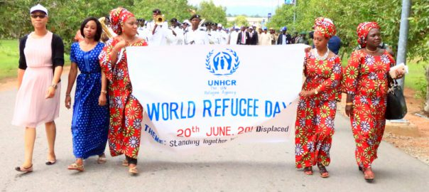 AUN Community & UNHCR officials march in solidarity with world refugees