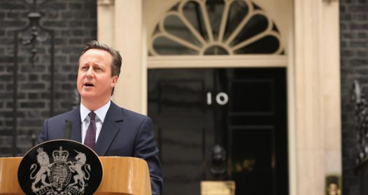 David Cameron giving his Brexit vote speech