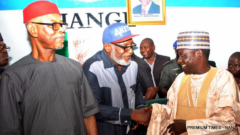 Image result for Gov. Akeredolu Disgraced at APC NEC MEETING of 27th March 2018