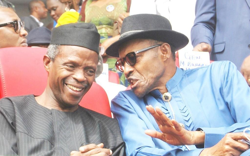 Image result wey dey for osinbajo celebrates buhari