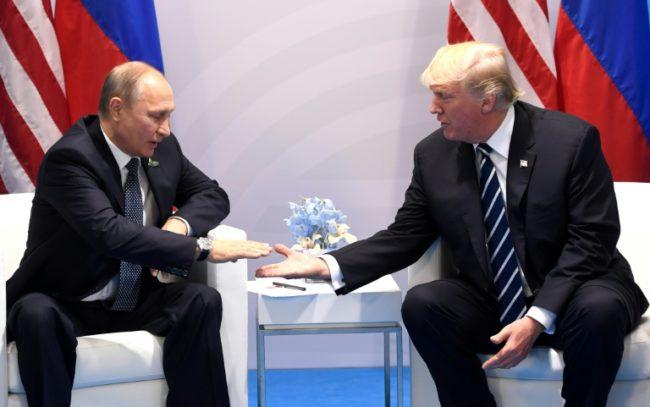 Russian President Vladimir Putin thanked U.S. President Donald Trump