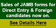 JAMB advert