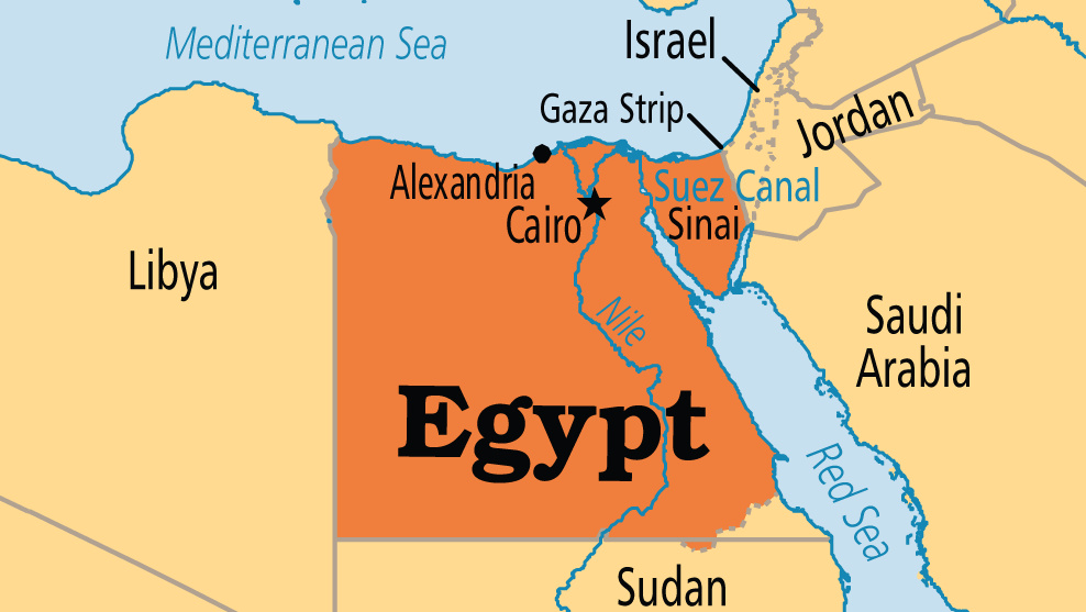 Egypt On A Map Egypt On The Map | compressportnederland