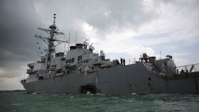 The collisions left 17 sailors dead.