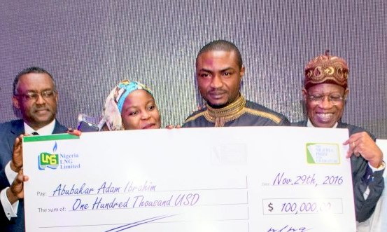 The sponsors of the prize announced this during a formal ceremony held in Lagos.