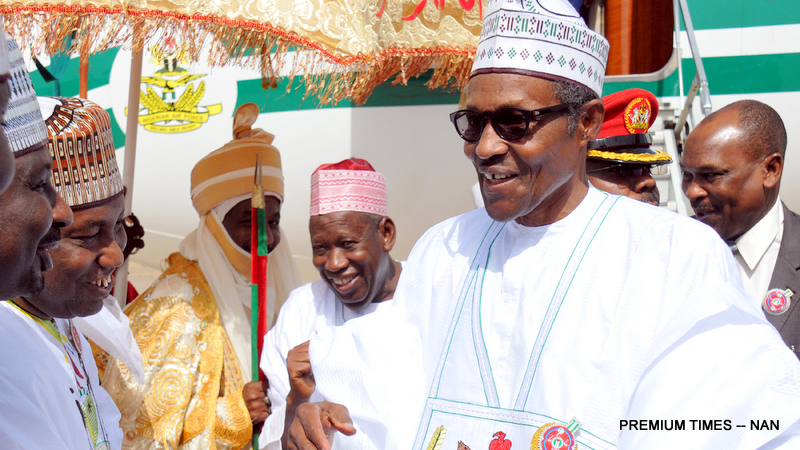 The president visited Kano on Wednesday.