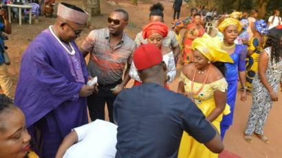 The couple got married on January 6 in a traditional Igbo ceremony.