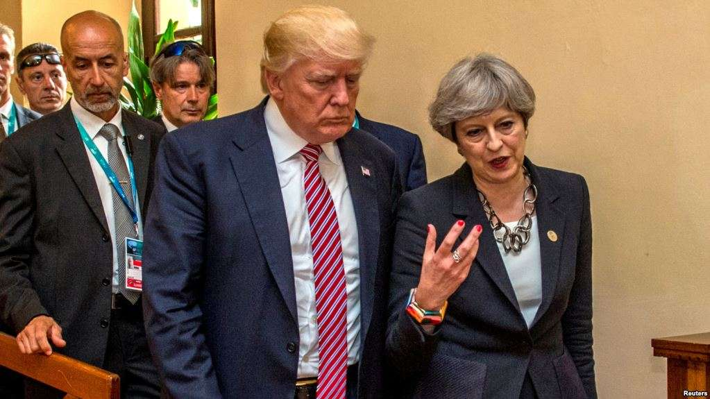 The U.S. president says he will not open a new American embassy in London.
