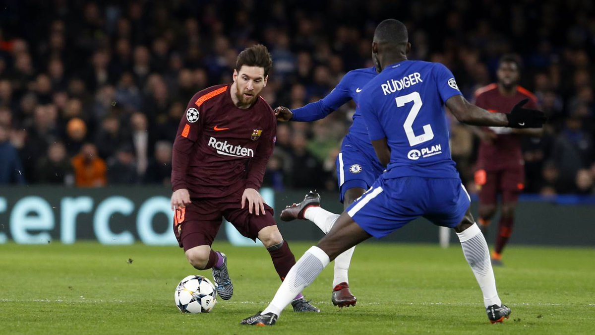 Champions League: Messi breaks jinx as Barcelona hold ...
