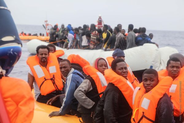 Video: Over 50 Nigerian migrants rescued on way to Italy