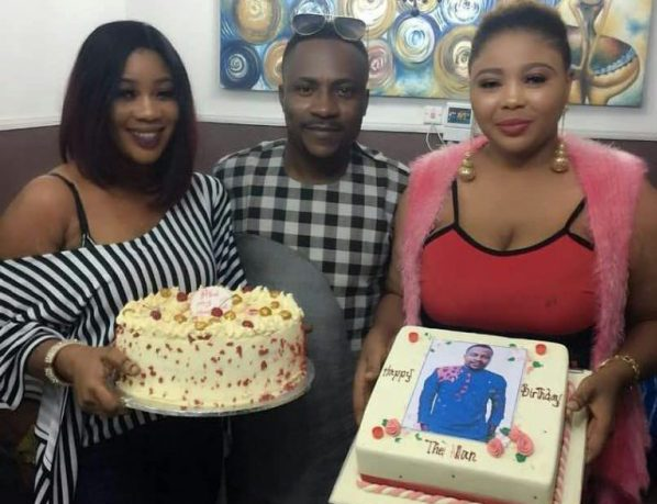 His two wives took turns to wish him a happy birthday on Instagram.