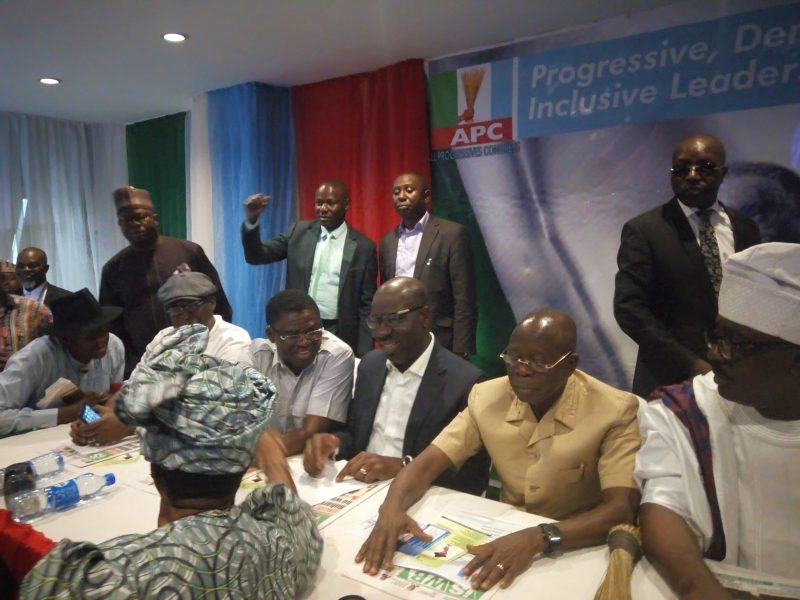 The governors trooped into his campaign office in Abuja on Tuesday to pledge their support for his bid.