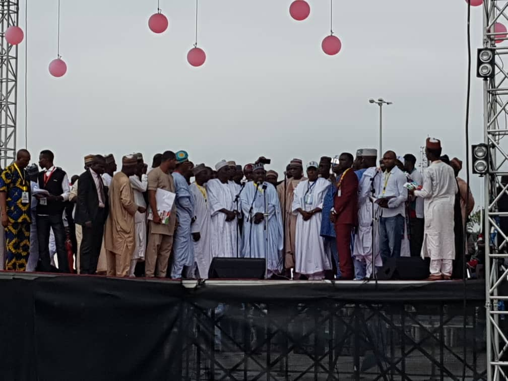 The chairman of the convention convention committee, Abubakar Badaru, announced the results and elected officials on Sunday evening at the convention.