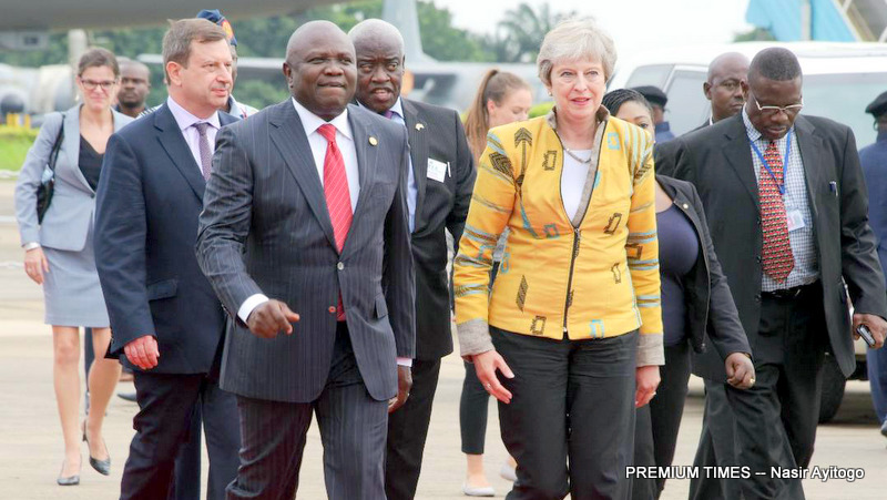 Video: How British Prime Minister Theresa May was received in Lagos
