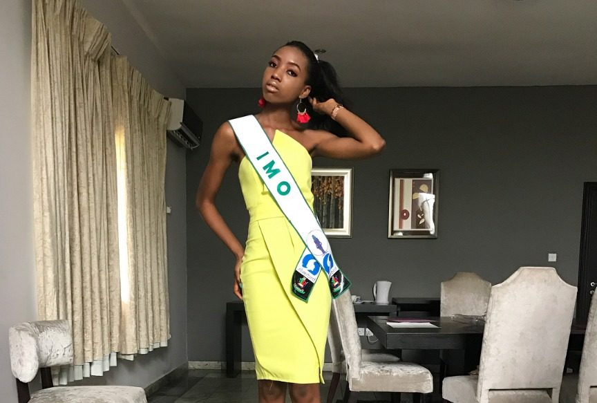 Ms. Ukah beat 36 other contestants to become the most beautiful girl in Nigeria. She is no stranger to beauty pageants having won the title of Miss Igbinedion University, Okada, in 2014.