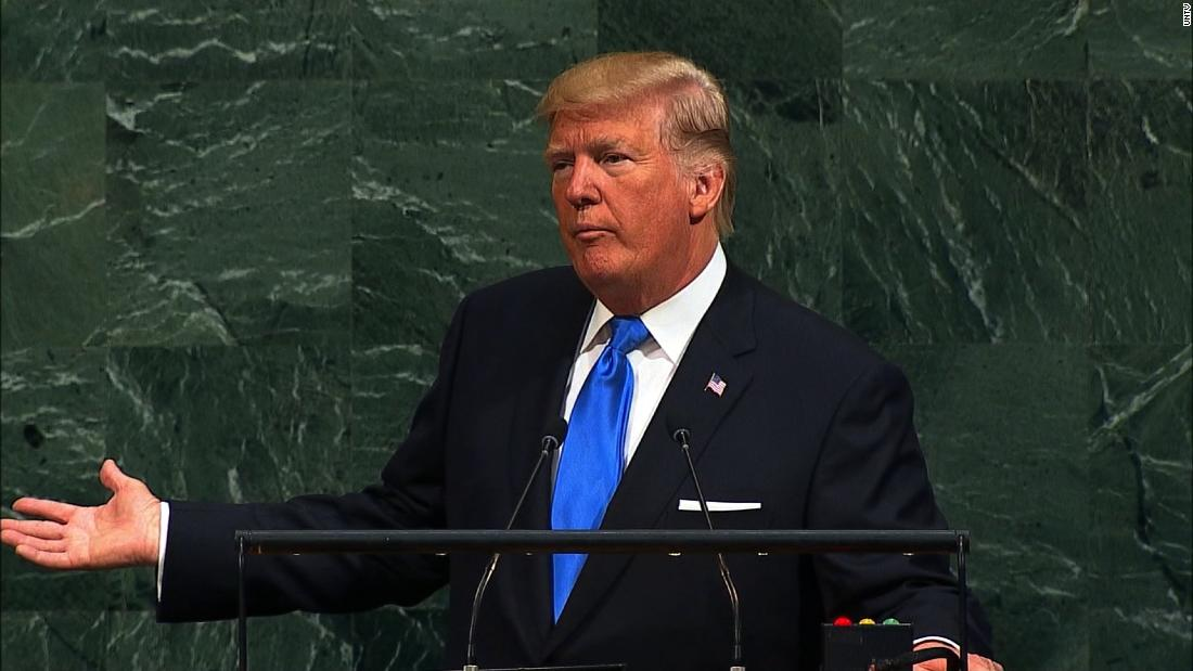 U.S. President Donald Trump on Tuesday told scores of Heads of State and Government that his country rejects the ideology of globalism, both generally and in relation to international justice and the migration crisis.