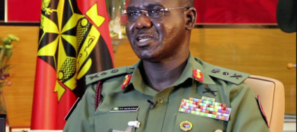 Immediate past Chief of Army Staff, Tukur Buratai. [PHOTO CREDIT: Official webpage of the Nigerian Army]