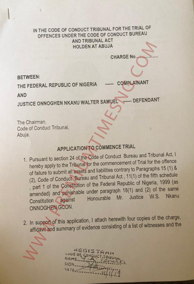 EXCLUSIVE: The full corruption charges against Chief Justice Walter