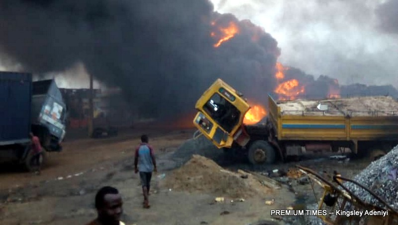 Image result for pipeline explosion in lagos state