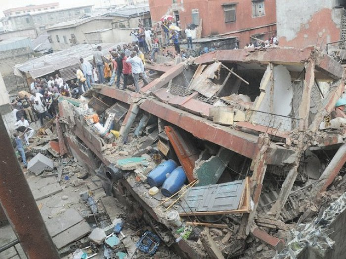 One killed as bank's building collapses in Lagos   Premium Times Nigeria