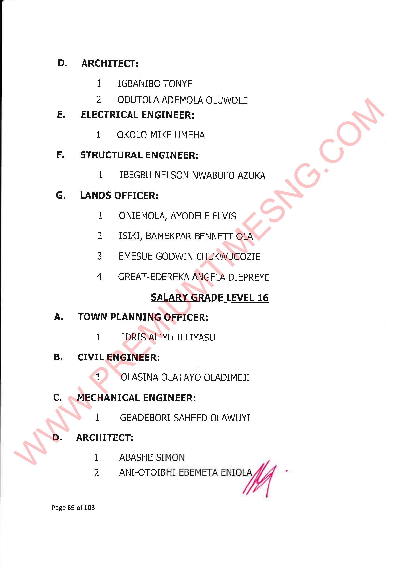 Nigeria promotes 1780 senior civil servants - FULL LIST - Premium