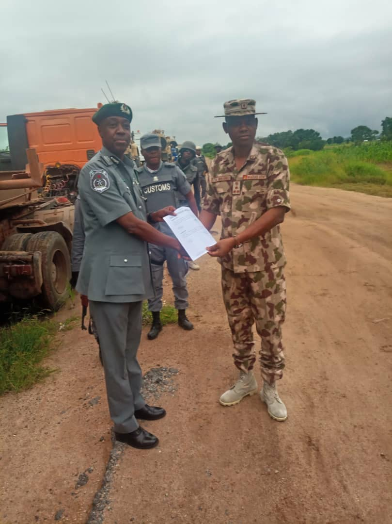 Image result for images of Nigerian Army intercept 'strange' military equipment in Adamawa