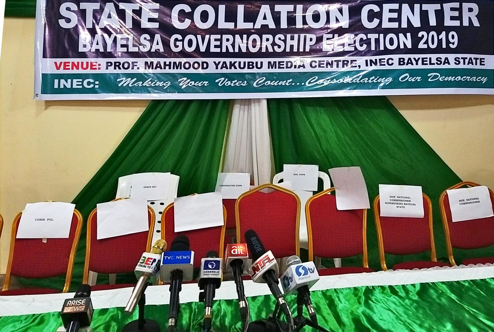 #BayelsaDecides: INEC prepares for final announcement of results