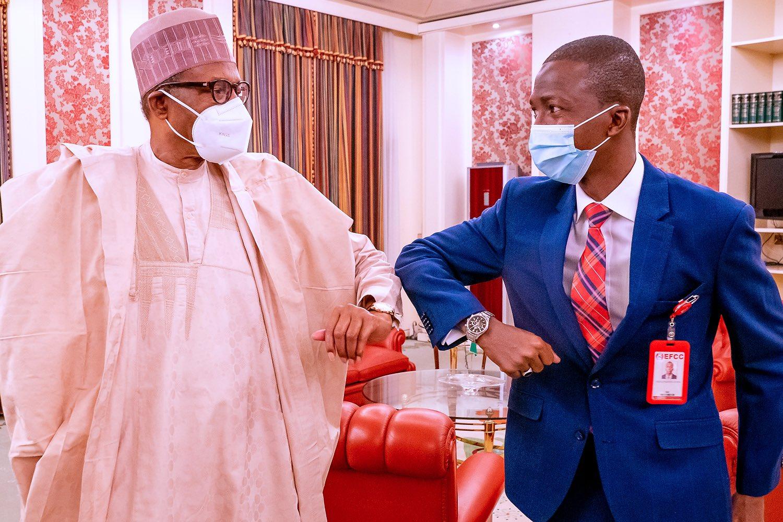 Buhari meets new EFCC Chair at Aso Villa | Premium Times Nigeria