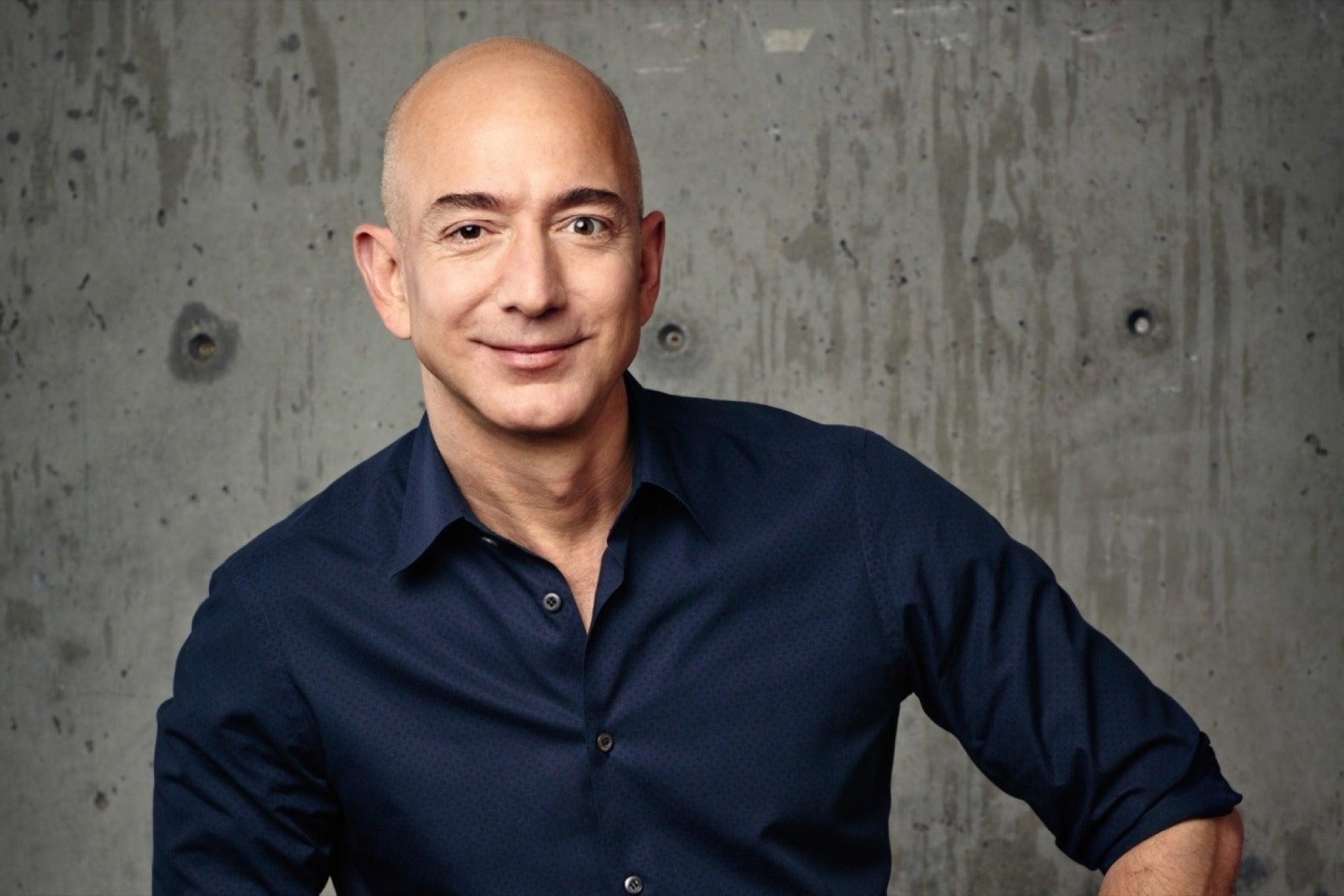 Jeff <b>Bezos</b> steps...