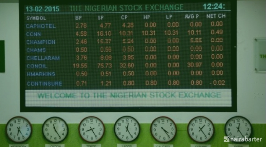 Nigerian stocks end five-day rise on investors hunting recently accumulated gains