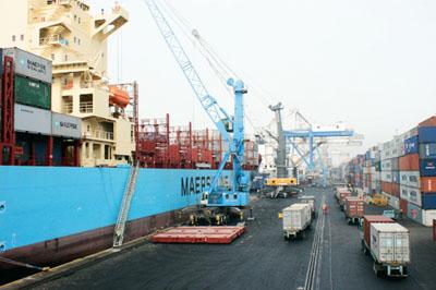 Ships at a port